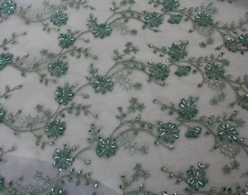 POLY MESH BRIDAL EMBROIDERY 51/52''