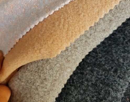 Wool Blended Terry and Melton Types of Woven F...