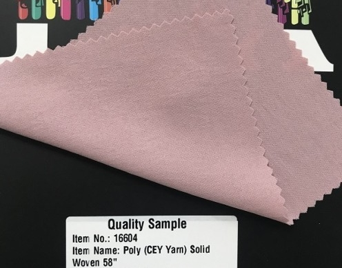 Poly (CEY Yarn) Solid Woven 58