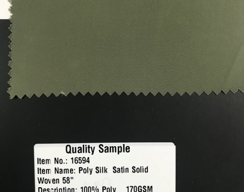 Poly Silk Satin Solid Woven 58