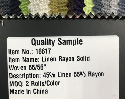 Linen Rayon Solid Woven 55/56