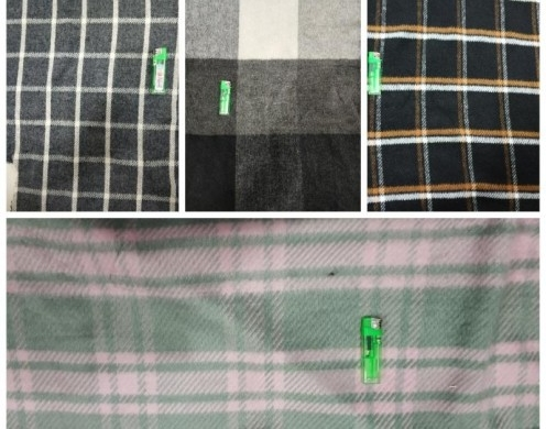 50%Wool Blended Melton Woven Check designs For...