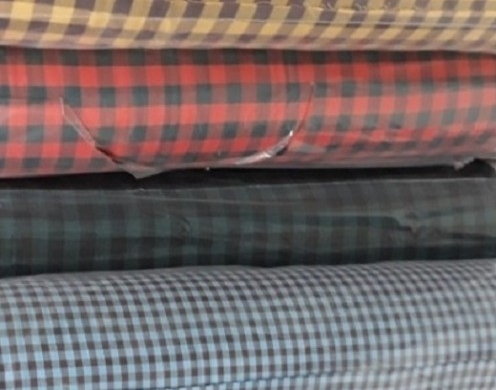 Cotton 60's High Density Yarn Dyed Check Woven...